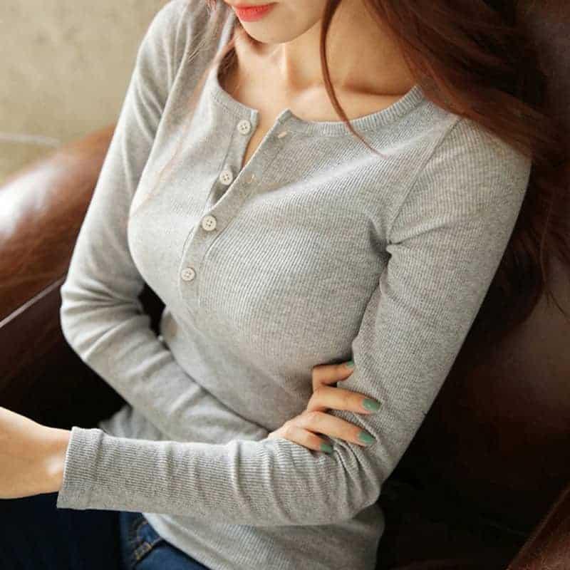 Áo Thun Tay Dài Nữ Đẹp - ATNTD56